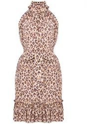 Zimmermann - Mini-jurk Met Luipaardprint - Lyst