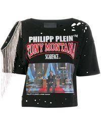 Philipp Plein Scarface Tシャツ - ブラック