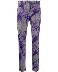 Versace - Tie-dye Checked Slim Trousers - Lyst