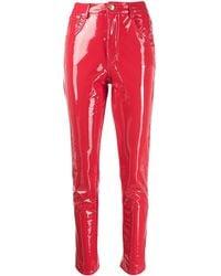 Chiara Ferragni Flirting Vinyl Trousers - Red