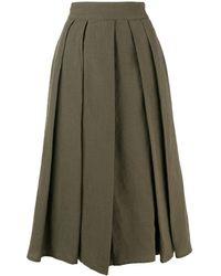 Aspesi Pleated Midi Skirt - Зеленый