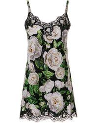 Dolce & Gabbana - フローラル スリップドレス - Lyst