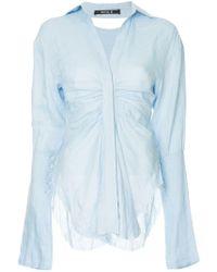 Kitx - Ruched Formal Shirt - Lyst