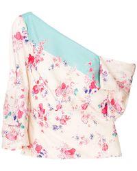 Vilshenko - Off-shoulder Floral Blouse - Lyst