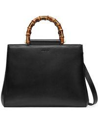 0e7743b662 Nymphaea Leather Top Handle Bag - Black
