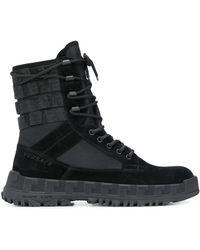 Versace Ботинки В Стиле Милитари - Черный