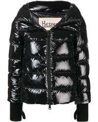 Herno Shiny Padded Coat - Black