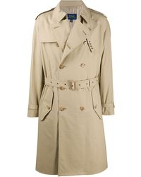 Polo Ralph Lauren Double Breasted Trench Coat - Natural