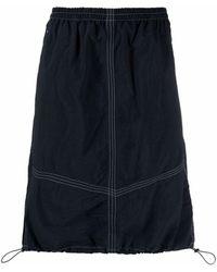 YMC Parachute Mini Skirt - Blue