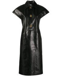 Bottega Veneta Платье-рубашка - Черный