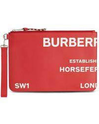 Burberry Клатч С Принтом Horseferry - Красный