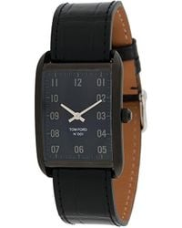 Tom Ford Watches Rechthoekig Horloge - Zwart