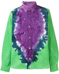 Vyner Articles Oversized Tie-dye Shirt - Purple