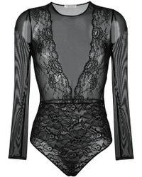 Faith Connexion - Lace Bodysuit - Lyst