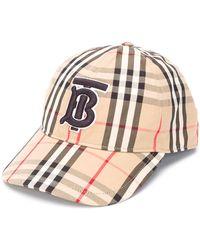 Burberry Honkbalpet Met Vintage Ruit - Bruin