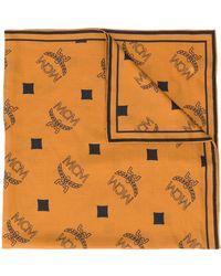 MCM ロゴプリント スカーフ - ブラウン