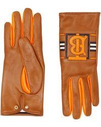 Burberry Monogram Gloves - Brown