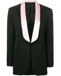 CALVIN KLEIN 205W39NYC テーラードジャケット - ブラック