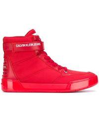Calvin Klein Хайтопы С Логотипом - Красный