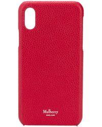Mulberry テクスチャード Iphone X ケース - レッド