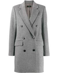JOSEPH Двубортное Пальто Elkins - Серый