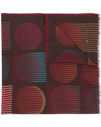 Kiton - Printed Cashmere Scarf - Lyst