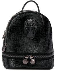 Philipp Plein Crystal-embellished Skull Backpack - Black