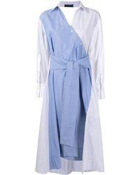 Eudon Choi Multi-panel Design Shirt Dress - Blue