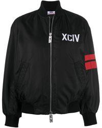 Gcds ロゴ ボンバージャケット - ブラック