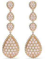 Boucheron 18kt Yellow Gold Serpent Bohème Diamond Pendant Earrings - Metallic