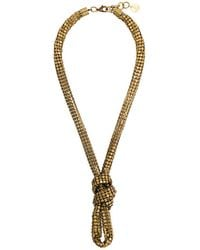 Silvia Gnecchi - Knot Necklace - Lyst