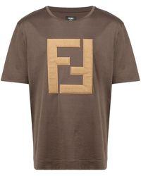 Fendi - Ffロゴ Tシャツ - Lyst