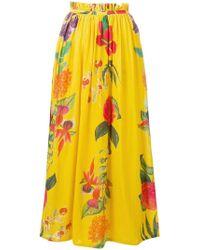 Carolina K - Floral Print Maxi Skirt - Lyst