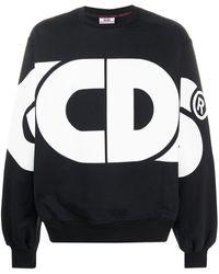 Gcds Sweat oversize à logo imprimé - Noir