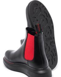Alexander McQueen Ботинки Челси С Контрастными Вставками - Черный