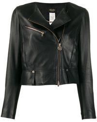 Liu Jo Cropped Biker Jacket - Black