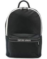 Emporio Armani - Sac à dos à bandes logos - Lyst