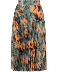 Off-White c/o Virgil Abloh Falda midi con motivo floral - Azul
