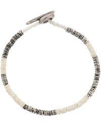 M. Cohen Beaded bracelet - Blanc