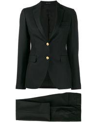 Tagliatore Plain Trouser Suit - Black