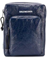 Balenciaga Borsa messenger Explorer - Blu