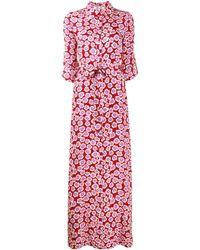 Diane von Furstenberg Vestido cruzado con estampado floral Amina - Rojo