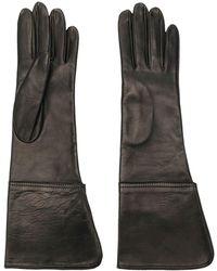 Manokhi Tonal Stitching Gloves - Black