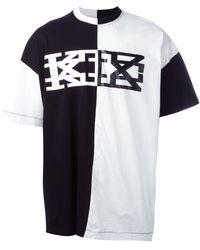 KTZ ブロックカラー Tシャツ - ブラック