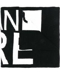 Versace Jeans Sjaal Met Logo - Zwart