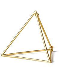 Shihara Triangle Earring 30 - Metallic