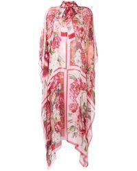 Dolce & Gabbana - Peony And Rose Print Chiffon Kaftan - Lyst
