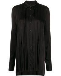 Masnada プリーツ ロングシャツ - ブラック