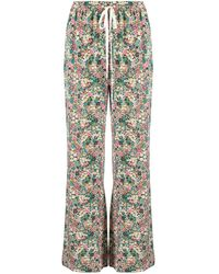 See By Chloé High-rise Floral-print Flared Trousers - Multicolour