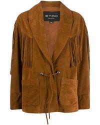 Etro Куртка С Бахромой - Коричневый